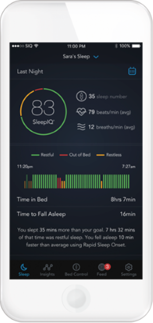 Smart Bed Sleep IQ App