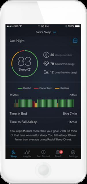 Smart Bed Sleep IQ App