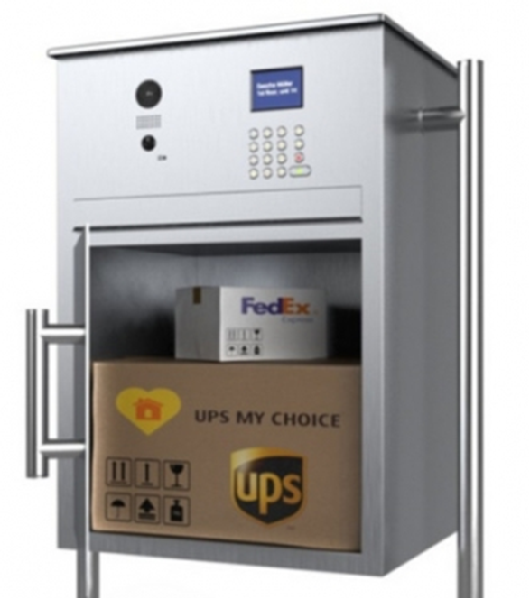 Secure Parcel Box A Drop With Video Surveillance